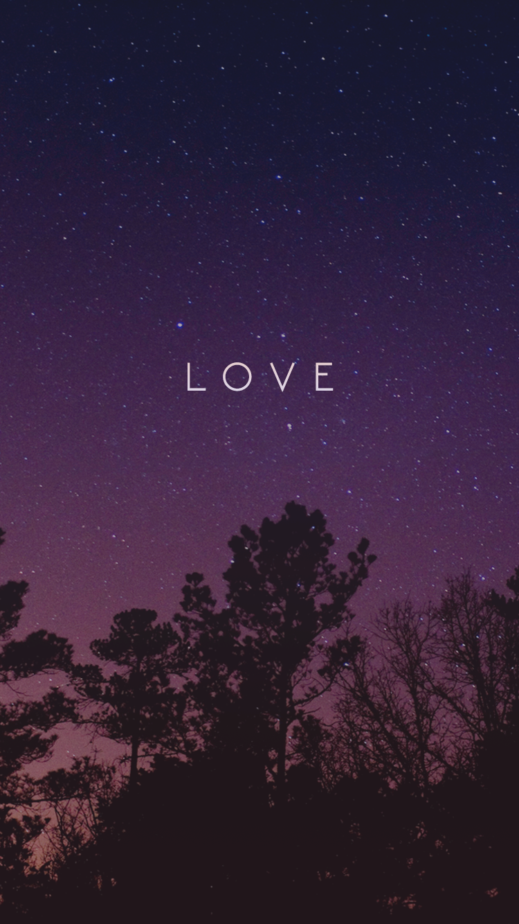 Love Night Sky Pink Purple Iphone Wallpaper 6 Free 750 X 1 334 Pixels