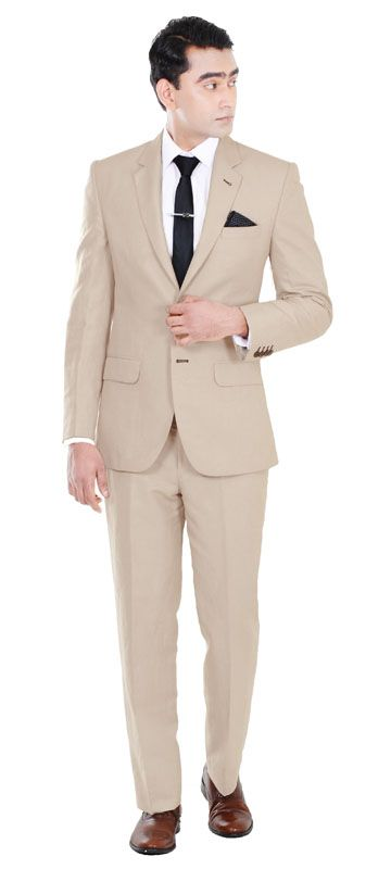 Premium 150s Light Brown Suit | Summer Wedding Grooms Suit ...