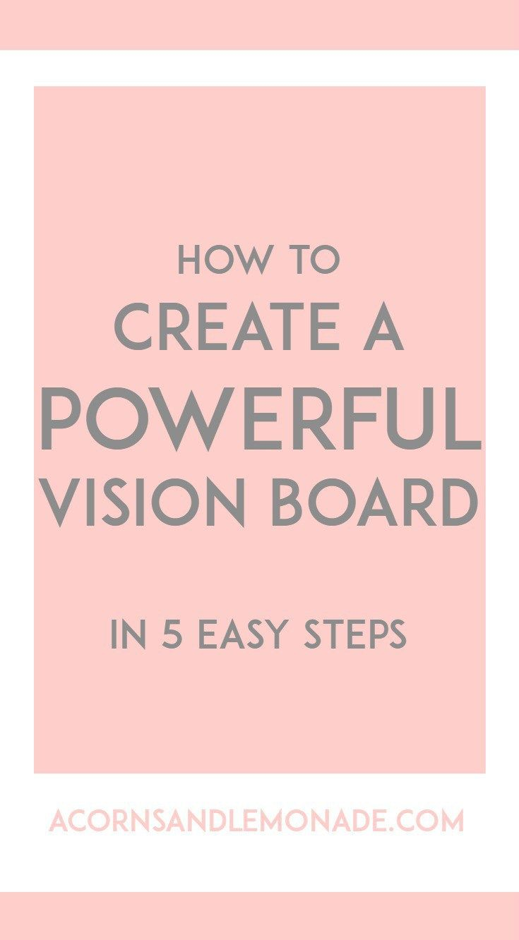 A vision board can be a powerful tool in achieving your dreams and it is  really easy to make one which is powerful and effective if you follow my 5  easy ...