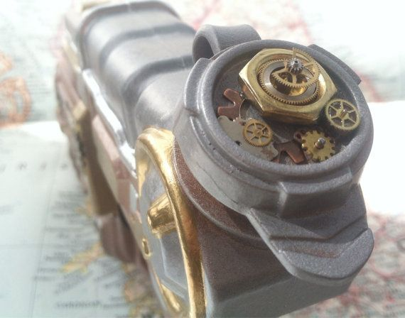 Real working Steampunk decked out water gun! $28 and 10% off with coupon code THANKYOU10  #steampunkgear#steampunk#christmasgift#steampunkgiftforhim#giftforher https://www.etsy.com/listing/203489211/working-steampunk-water-blaster-with?ref=shop_home_active_3