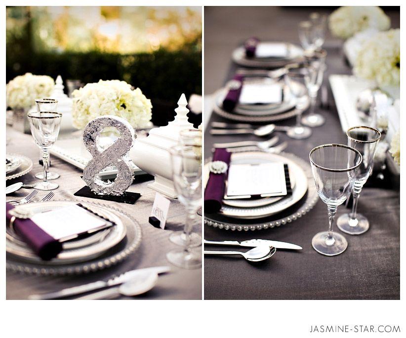 Black And Purple White Wedding