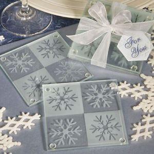 Winter Theme Snowflake Coaster Favors
