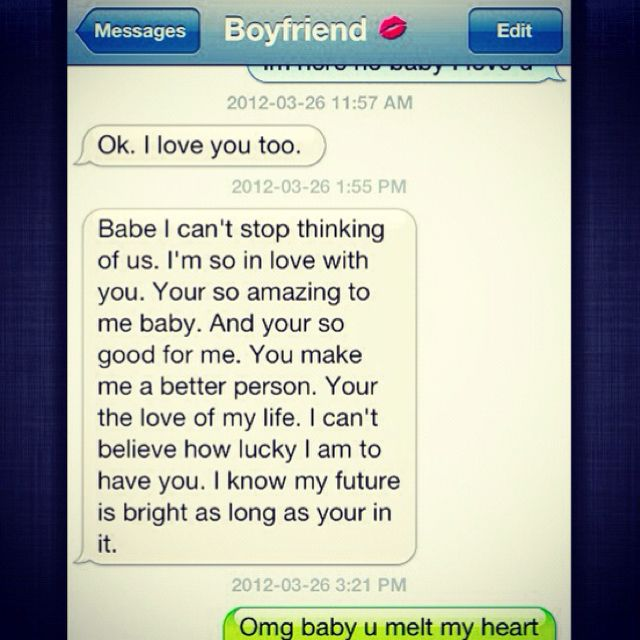 My Boyfriend Sends Me Texts Like This All The Time Sweet Boyfriend Texts Boyfriend Texts Cute Text Messages