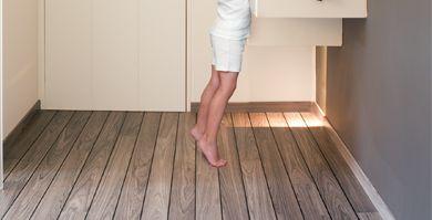 STRATIFIÉ LAGUNE Teck Gris Construction Sol Pinterest - Parquet salle de bain quick step