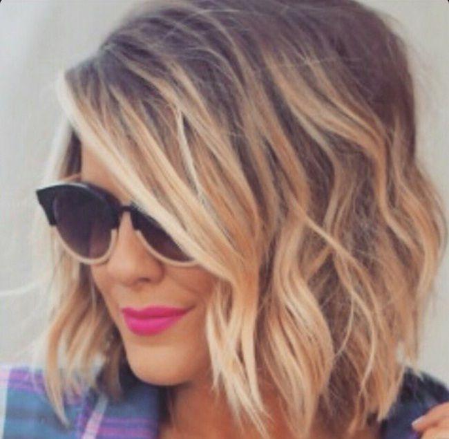 Blond Ombre Coiffure Cheveux, Coupe cheveux mi long et