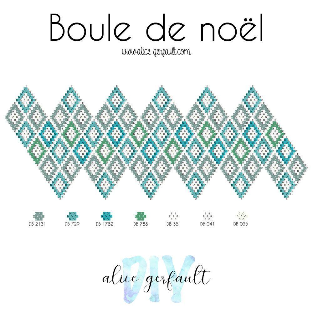 Boule De Noel En Perles Miyuki Et Au Crochet Diy By Alice Gerfault In 2020 Diy Earrings Patterns Bead Crafts Diy Bead Crochet Patterns