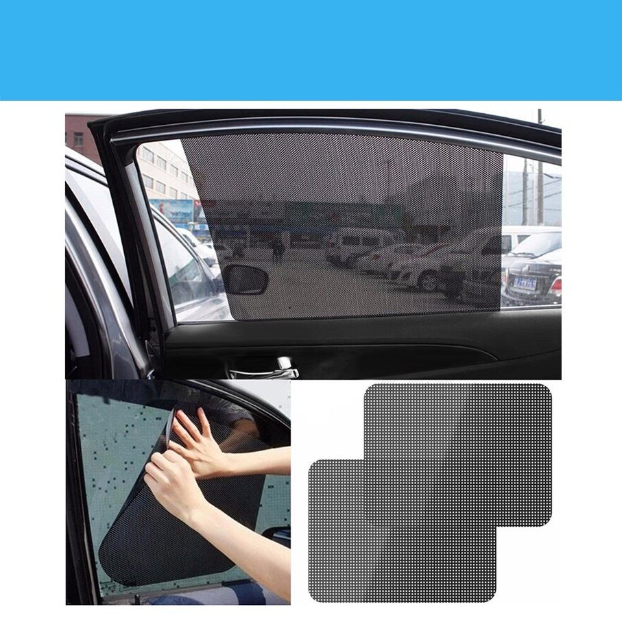 Black Auto Sun Visor Window Suction Cup Car Curtain Sun Shade