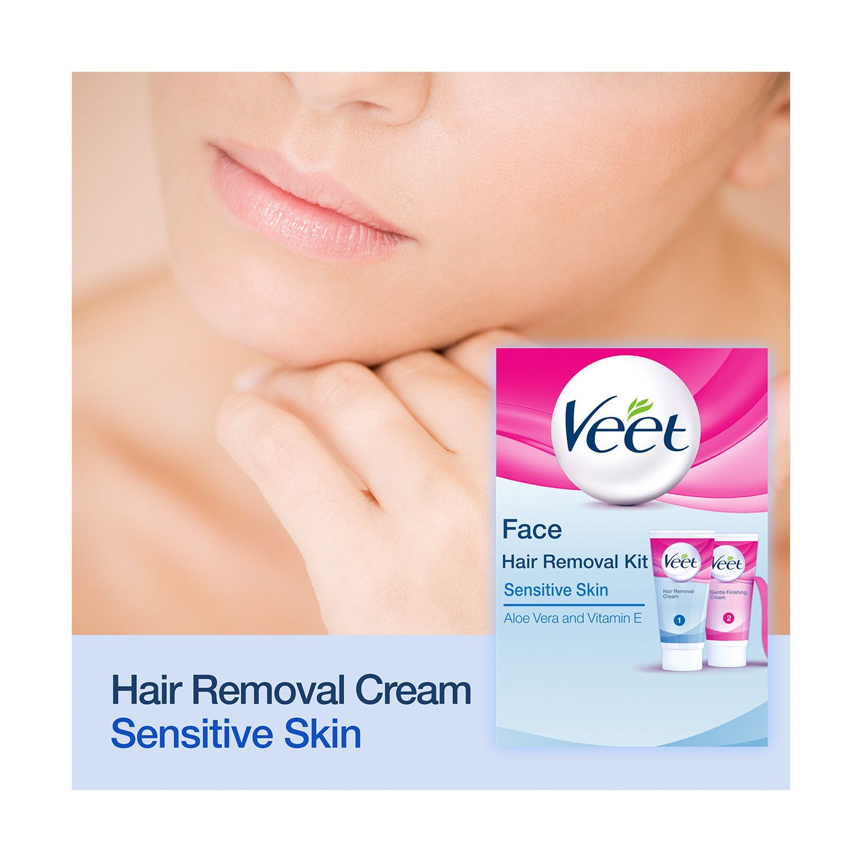 Veet Hair Removal Face Kit Sensitive Skin Hair Removal