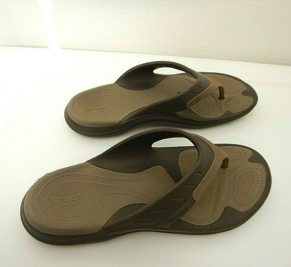 CROCS Dual Comfort Slip-on Thongs