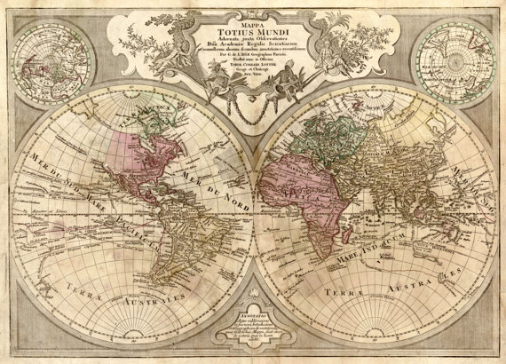 Old world map historical maps antique world map by mapsandposters old world map historical maps antique world map map 124 gumiabroncs Gallery