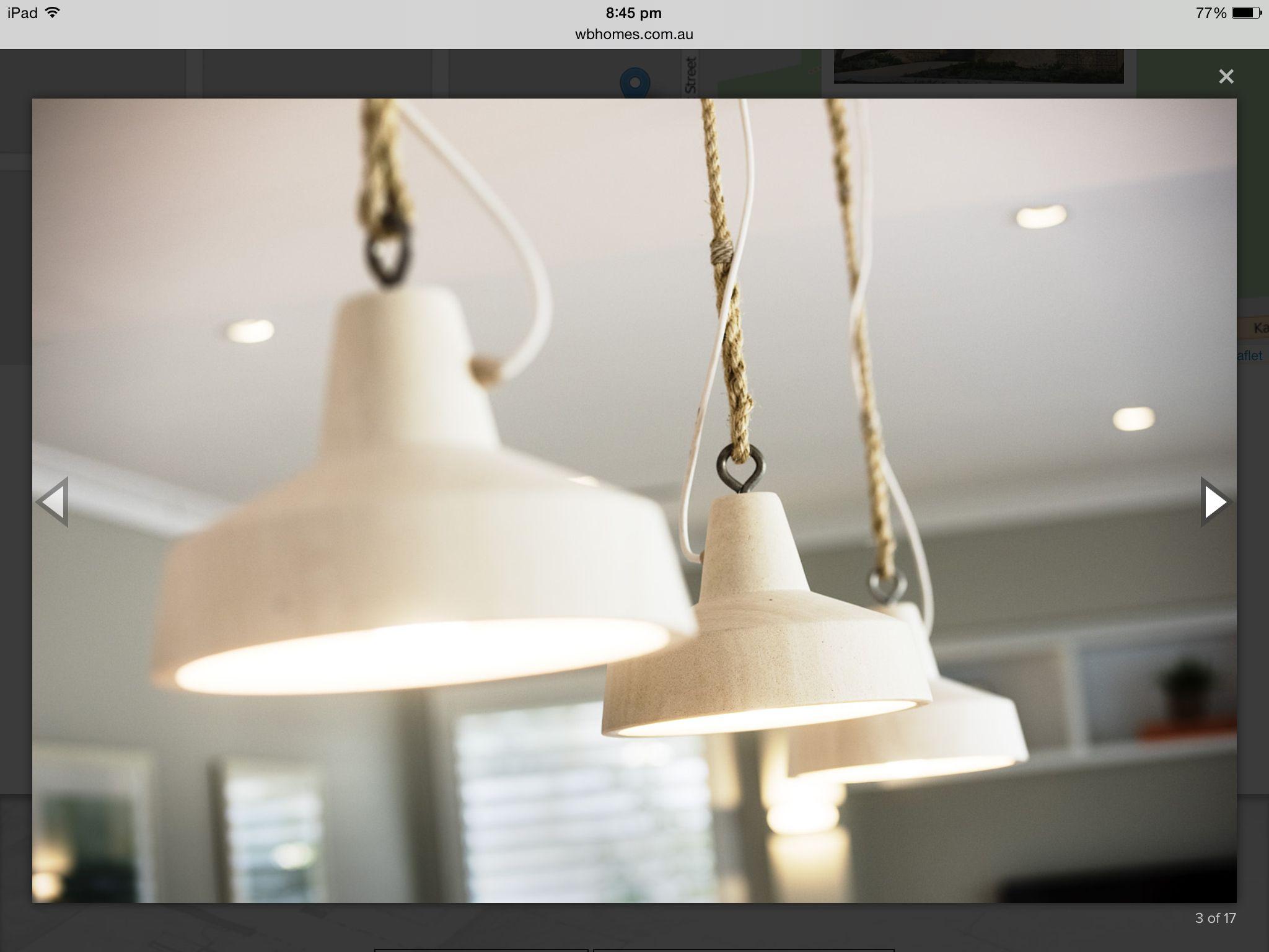 Seaside Kitchen feature lights Display homes, Hamptons