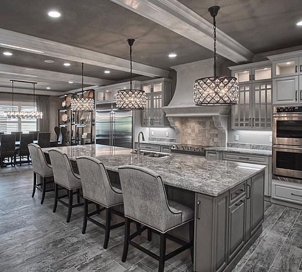 Grey kitchen pinteres for Kitchen designs and more