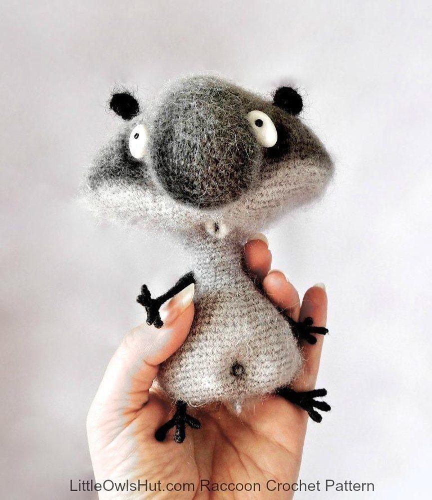 091 Funny Raccoon amigurumi | Basic sewing, Magic ring and Single ...
