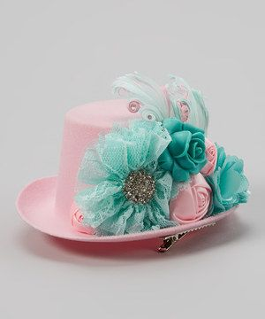 Another great find on #zulily! My Sunshine Shoppe Pink Mini Top Hat Clip by My Sunshine Shoppe #zulilyfinds