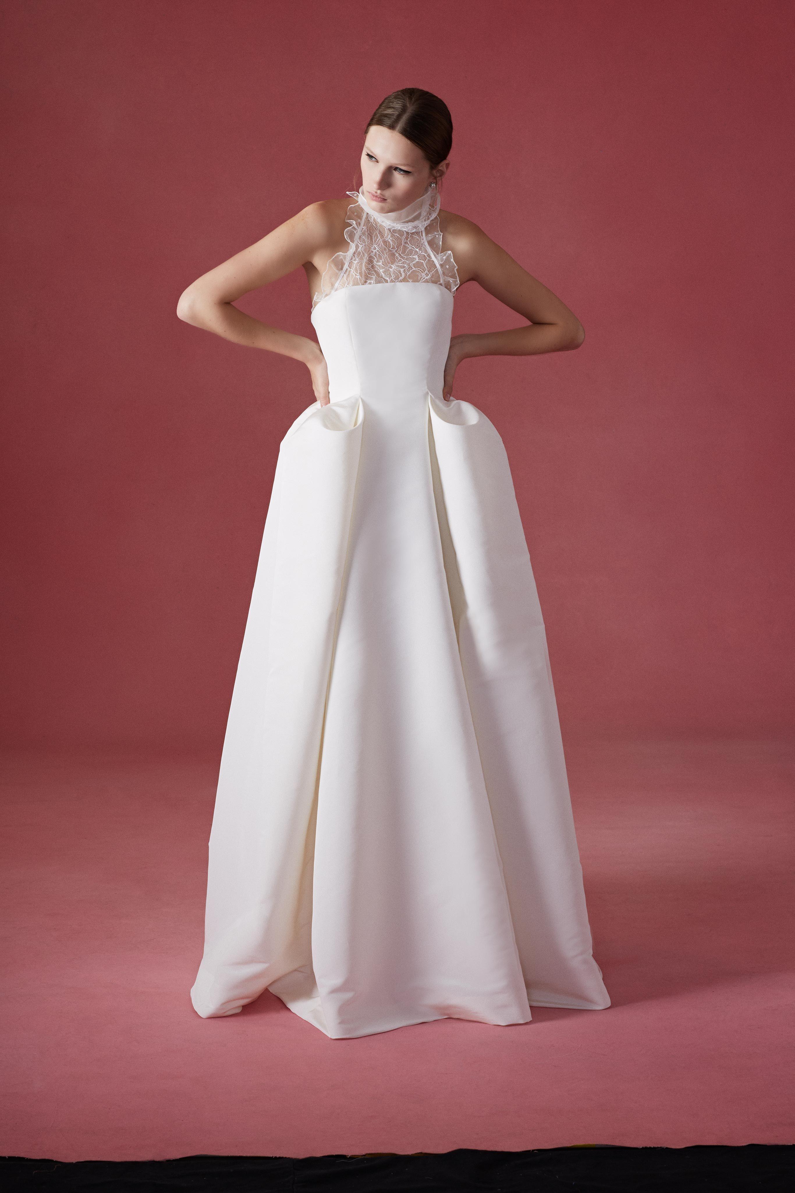 The oscar de la renta bridal collection is available at mark ingram
