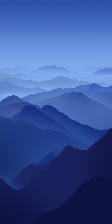 Dans Les Pyrenees En 2020 Illustration De Paysage Fond D Ecran Minimaliste Fond D Ecran Bleu Iphone