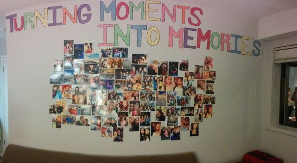 Photo Wall of friends and family.