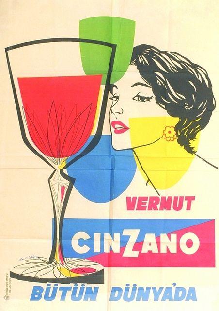 vintage ad, Cinzano vermouth