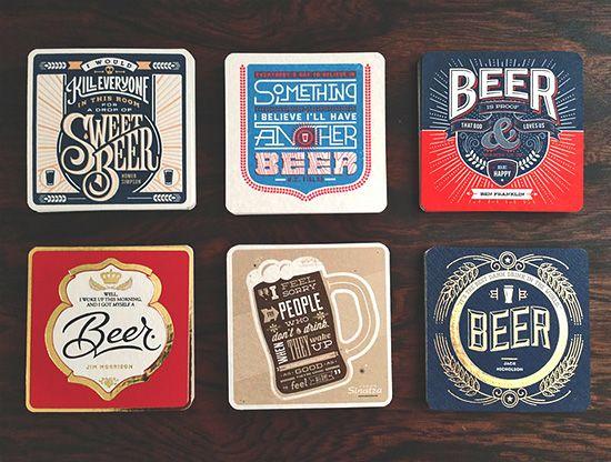 Beer Press: Letterpress Coaster Collection | Inspiration Grid | Design Inspiration