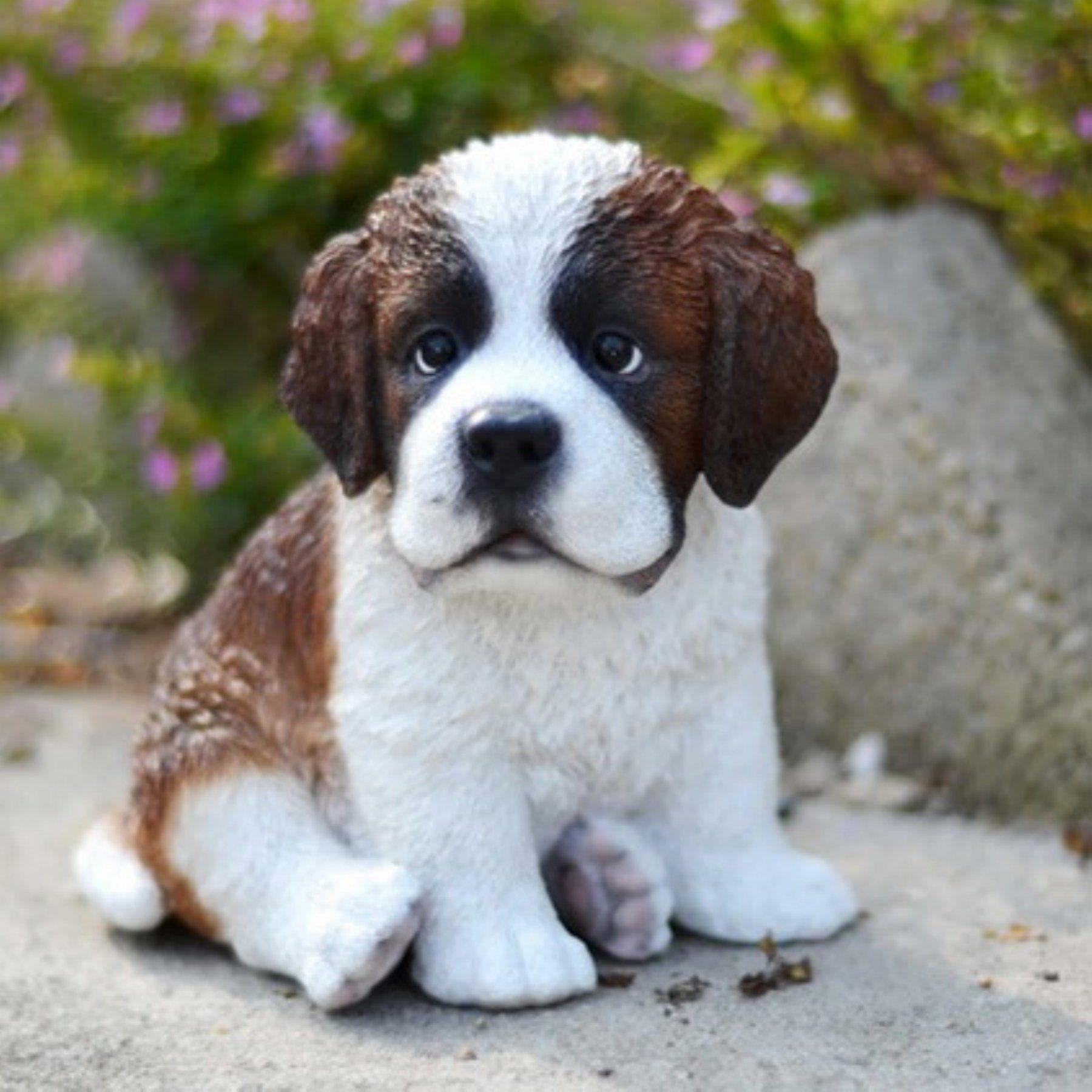 HiLine Gift Ltd. Sitting Saint Bernard Puppy Garden