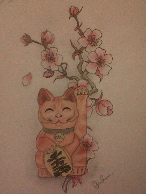 LUCKY CATS Maneki neko 454 japanese lucky cats printable tags digital images ATCs ACEOs scrapbooking,