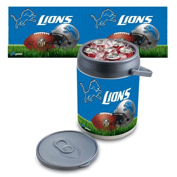 Detroit Lions Digital Print Can Cooler Silver Gray