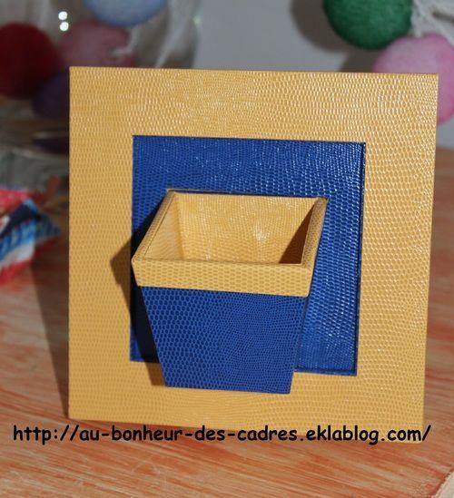 Cartonnage  mini porte plante à poser ou suspendre cartonnage