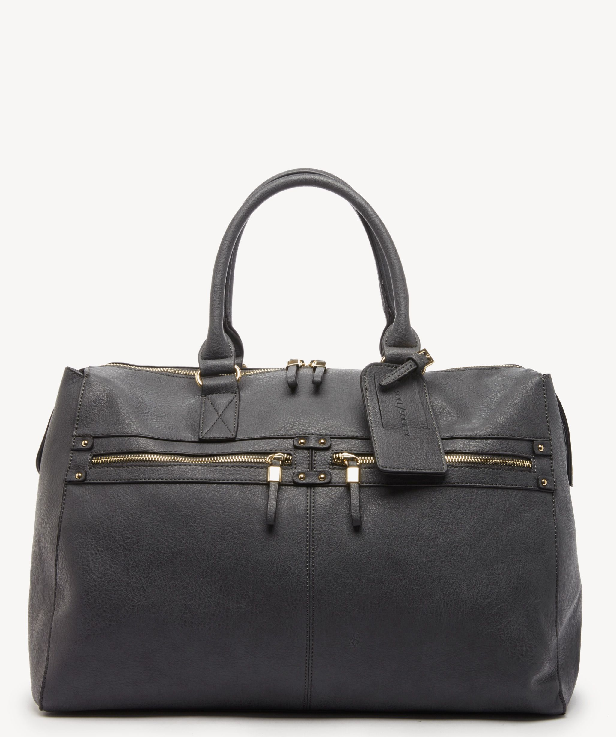 42c47c061 Women's Zypa Weekender Vegan Duffel In Color: Grey One Size Bag | Vegan  Leather | From Sole Society