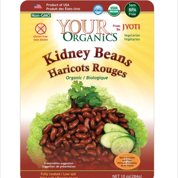 Organic Beans Cooked 10 Oz Pouches Jyoti Natural Foods In 2020 Kidney Beans Beans Food