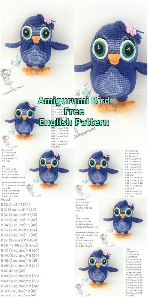 Crochet Amigurumi Bird - FREE pattern   Croby Patterns   1024x512