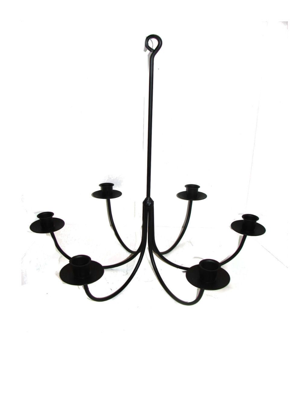 34 95 Wrought Iron 6 Arm Candle Chandelier 17w X 20h Spray Paint
