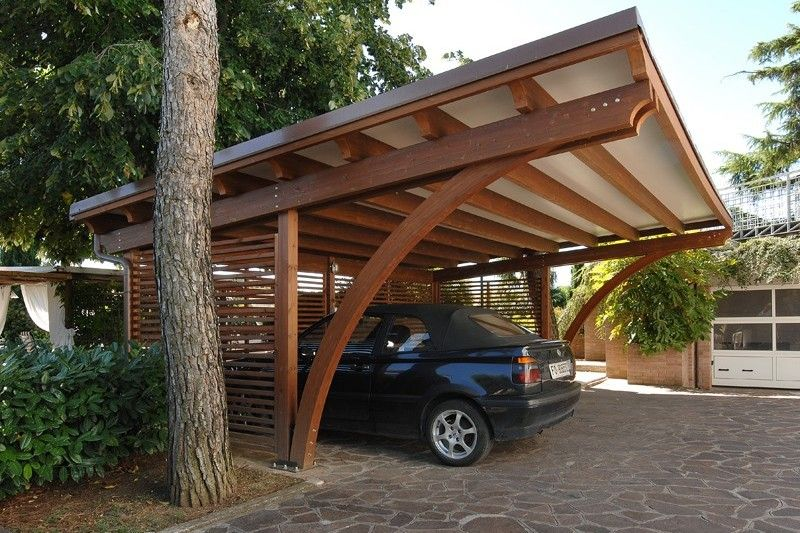 Carport in legno 05 pergolas pinterest garaje - Porches para coches ...