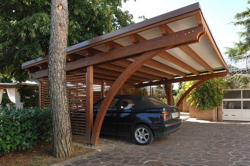 Carport in legno Progetti di posto auto coperto, Tettoia
