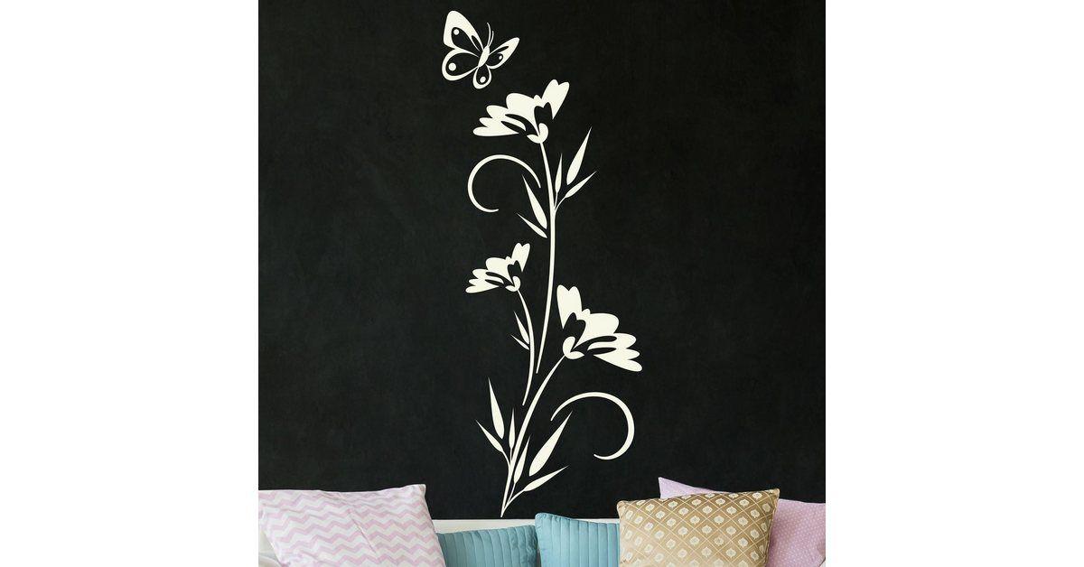 Bilderwelten Wandtattoo »Blütenpracht«, Wandtattoo aus selbstklebender, glatter Wandfolie online kaufen | OTTO