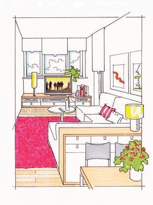 gestaltungsideen f r schmale r ume trennung esszimmer und wohnzimmer. Black Bedroom Furniture Sets. Home Design Ideas