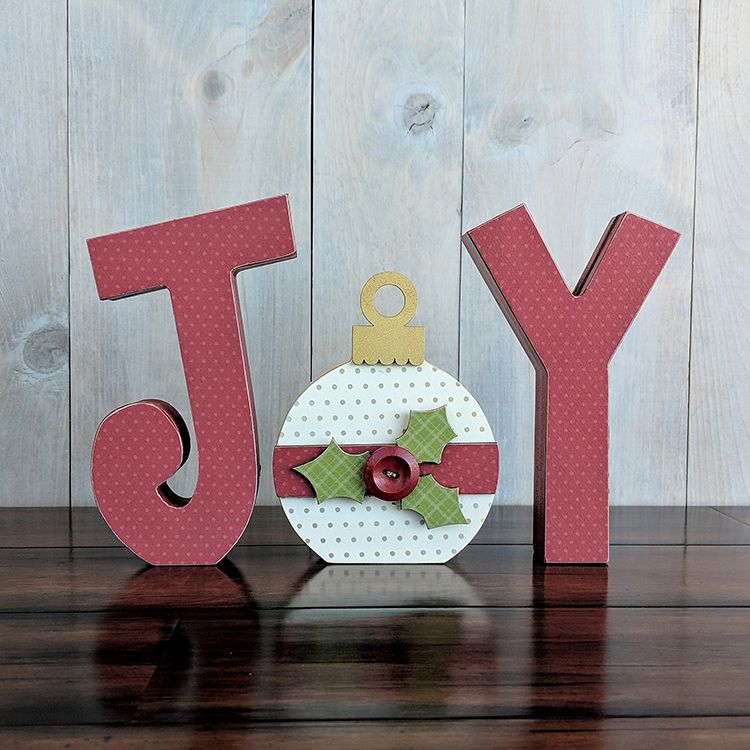 Foundations Decor – Christmas – Wood Crafts – JOY with Ornament