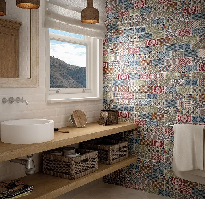 Metro Patchwork 3x6 Multicolored Wall Tiles | Beautiful Wall Tiles ...