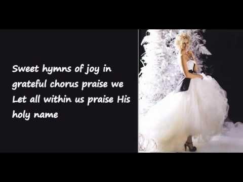 O Holy Night - Faith Hill (Lyrics on Screen) | Faith hill, O holy night, Christmas music