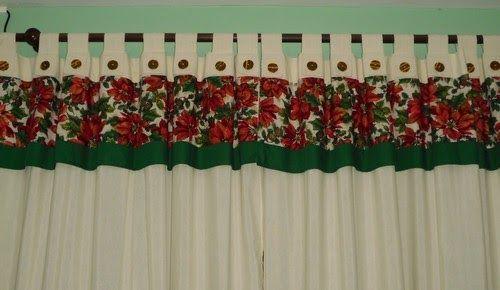Imagenes de hermosas cortinas navide as imagenes de for Cortinas navidenas para sala