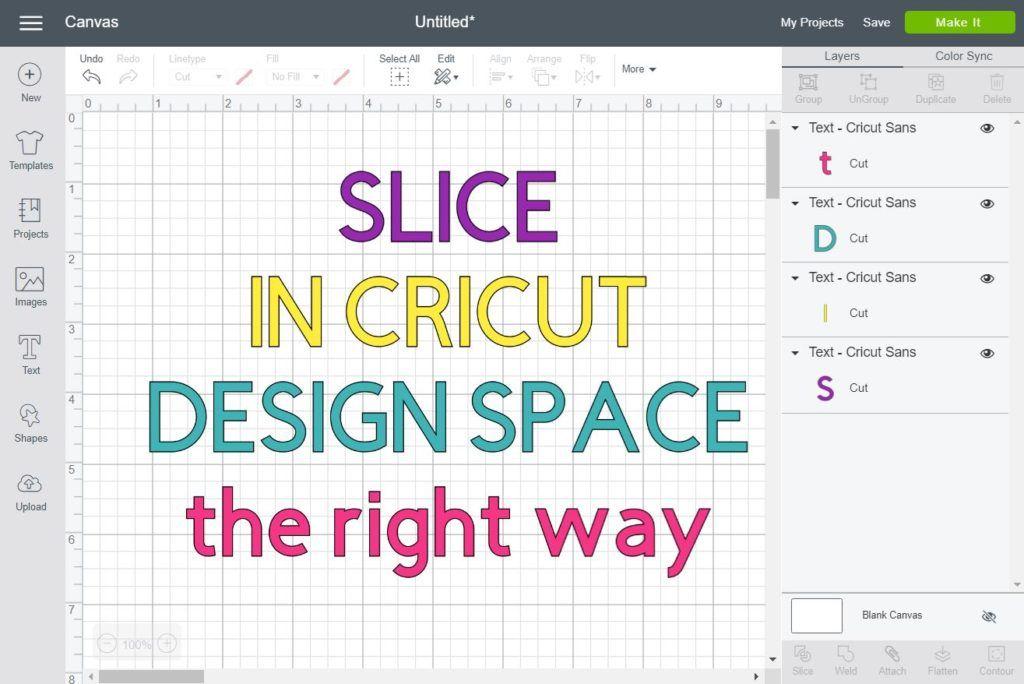 How to Slice & Crop in Cricut Design Space Cricut design