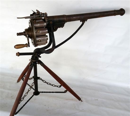 Ametralladora James Puckle, Londres, 1718 | Armas de fuego ...