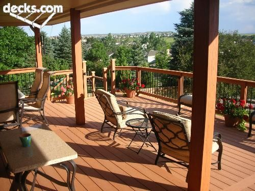 partially covered deck