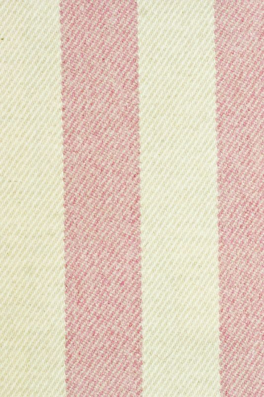 Drummond Stripe Fabric Striped wool upholstery fabric in cream and ...