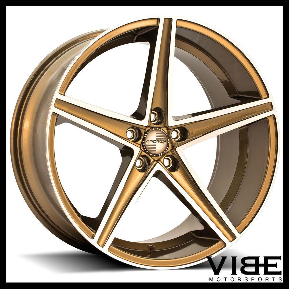 20 sporza topaz bronze concave wheels rims fits hyundai genesis coupe