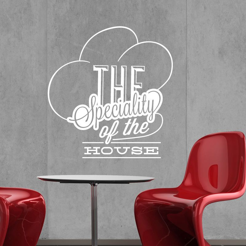 catering wall sticker vinyl decal restaurant cafe kitchen food sign