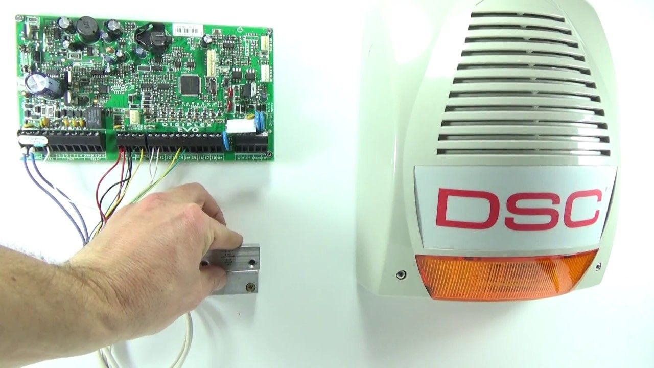 outdoor dsc bentel bell siren wiring on paradox alarm panel evo magellan spectra [ 1280 x 720 Pixel ]