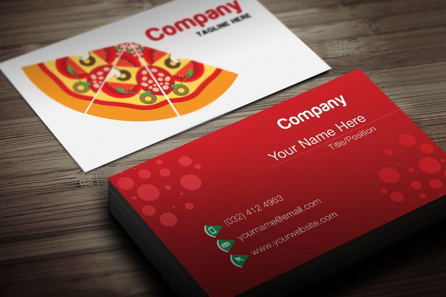 PIZZA RESTAURANT BUSINESS CARD TEMPLATE | Design | Pinterest | Card ...