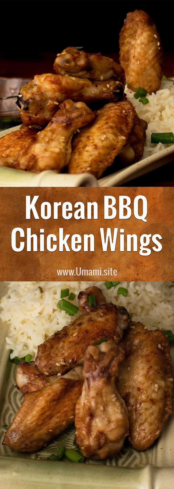 Korean BBQ Chicken Wings This wing recipe is full of and the deep flavors that make Korean BBQ so d