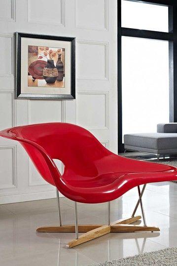 Modway Amoeba La Chaise Red Hautelook Chaise Lounge Chair Living Room Lounge Chairs Living Room Cheap Office Chairs