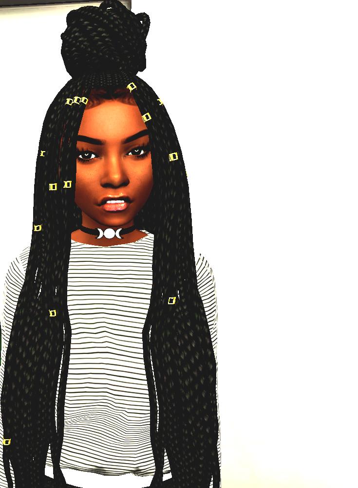 Ebonix Poetic Braids Sims 4 Black Hair Toddler Hair Sims 4 Sims Hair